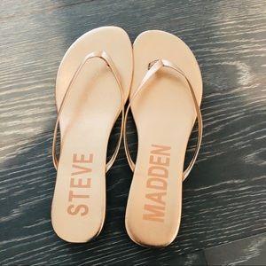 Steve Madden - rose gold sandals